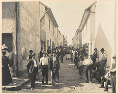 Exeter Place, taken during Cleansing Operations, Quarantine Area, Sydney, 1900 - photo courtesy of State Library of NSW